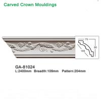 Quality 2400mm White Polyurethane foam cornice PU ceiling corner moulding for sale
