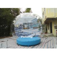 Wholesale OEM PVC Tarpaulin PVC Dome Inflatable Snow Globe for Christmas Decoration from china suppliers