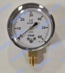 Wholesale Steel Chrome Capsule Pressure Gauge / Capsule Type Pressure Gauge High Accuracy from china suppliers
