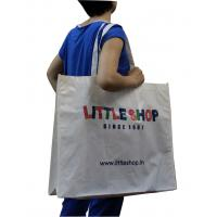 Wholesale 90gsm Non Woven Fabric Carrier Bags White Shining Coated Advertising Bag from china suppliers