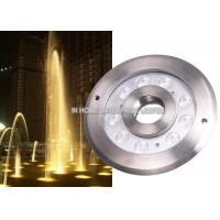 Wholesale IP68 12W RGB Underwater LED Fountain Lights DC12V / 24V Stainless Steel from china suppliers