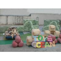Wholesale 0.9MM PVC Inflatable Paintball Bunkers Bootcamp Speedball Bunker Free Shipment from china suppliers