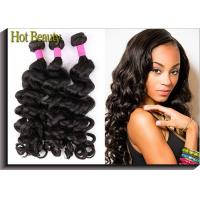 Wholesale Grade 5A Virgin Brazilian Hair Extension Natural Wave , Natural Black Human Hair from china suppliers