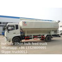 Wholesale cheapest price Dongfeng 10tons animal feed truck for sale, 20m3 dongfeng hydraulic feed truck for fish, pig farms from china suppliers