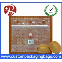 Wholesale Customized Clear PE slider Fresh Fruit Packaging Bags With Hole from china suppliers