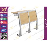 Wholesale Wooden Material Attached School Desk And Chair Floor Mounted from china suppliers