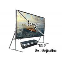 Wholesale 1080P HD Matte White Screen / Portable Presentation Screen With Aluminum Frame from china suppliers