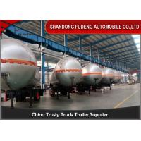Wholesale Steel Material LPG Semi Trailer / 3 Axle 59.6CBM Fuel Tanker Semi Trailer from china suppliers