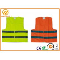Buy cheap High Visibility Polyester Reflective Safety Vests FluorescentOrange / Yellow from wholesalers