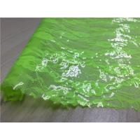 Wholesale Transparent Tpu Leather Bonded Fluorescent Green Lace Fabric For Ladies Coat from china suppliers