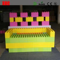 Wholesale Rotational Moulding PE Building Block Set Plastic Lego Blocks 20x20x40 cm from china suppliers