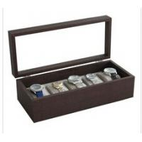 Wholesale 5 slots unisex watch solid wood box Gift display box with glass window Big watch suitable from china suppliers