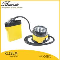 Buy cheap BRANDO KL12LM led cap lamp rechargeable battery with waterproof IP68 for miner work from wholesalers