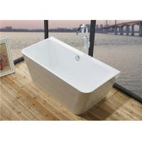 Wholesale Glossy Solid Surface Acrylic Free Standing Bathtub Indoor Square Shaped from china suppliers