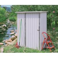 Wholesale Portable Eco Friendly Mini Cream Metal Garden Shed With Deep Roll-Formed Wall Panels from china suppliers