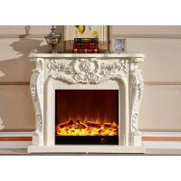 Wholesale Luxury White Antique Home Electric Fireplace With Remote Control from china suppliers