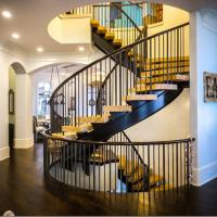 Wholesale Arc Modern Wood Steel Round Staircase from china suppliers