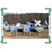 Wholesale Outdoor Inflatable Paintball Bunkers / Silk Printing Air Bunkers Balls Games from china suppliers