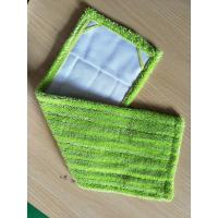 Wholesale Green Twisted Fold Oxford Fabric Pocket Microfiber Wet Mop Pads 14*48 from china suppliers