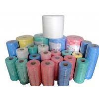 Wholesale Multi Purpose spunlace Nonwoven Cleaning Cloth Roll / Dishcloth Cleaning Wipes Roll from china suppliers