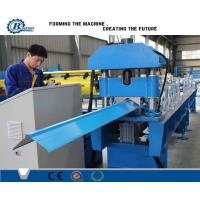 Wholesale 380V Industrial Ridge Cap Roll Form Machine , Roof Cap Making Machines from china suppliers