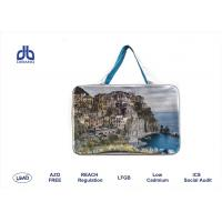 Wholesale Colorful Print PVC / PU Promotional Travel Bags 210D With Press Button OEM Acceptable from china suppliers