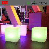 Wholesale LED cube stool outdoor furniture GF201 light furniture plastic Led furniture bar Chair High Bar Chair from china suppliers