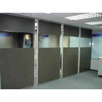 Buy cheap Folding Office Partition Walls Melamine Surface MDF Board Aluminium Frame from wholesalers