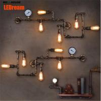 Wholesale LEDream new fashion wroguht iron Water pipe wall lamp vintage aisle lights loft iron wall lamp edison incandescent light from china suppliers