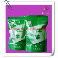 Wholesale Ziplock Bottom Gusset Plastic Bag Packaging , Green Tea Packaging Bag from china suppliers