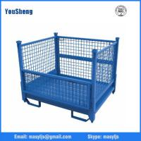 Buy cheap Industrial stackable collapsible heavy duty rolling wire mesh container warehousing from wholesalers