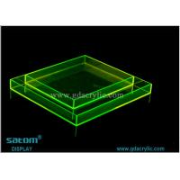 Wholesale Customization Round / Square / Rectangular Acrylic Serving Tray Various Color from china suppliers