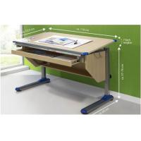 Wholesale Wood Grain computer Adjustable Drawing Desk table with Ruler Storage from china suppliers