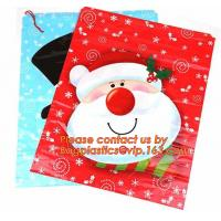 Wholesale Christmas Fancy Gift Poly Bag /drawstring santa sack bag, decoration bags, jumbo bags, giant gift bags, Christmas bags from china suppliers
