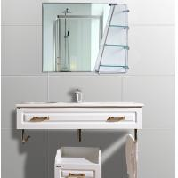 Wholesale Cosmetic Oval Anti - Fog Bathroom Wall Mirrors With Shelf 600mm × 800mm from china suppliers