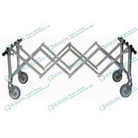Quality Convenient Foldable Aluminum Alloy Church Coffin funeral trolley Equipment for sale