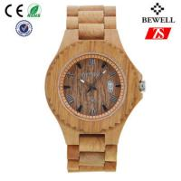 Wholesale Old Annatto Wooden Wrist Watch With Japan Quartz Movement , ROHS FSC Standard from china suppliers