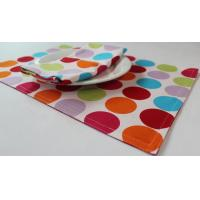 Wholesale Red Dot Printed 250gsm Canvas Cotton Fabric Placemats Coffee Table Mat from china suppliers