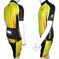 Wholesale Cycling Jerseys, Comes in Close-fitting Cut with Less Air Resistance from china suppliers