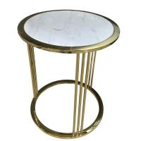 Wholesale stone top stainless steel metal side table/End table/coffee table for hotel furniture,casegoodsTA-0082 from china suppliers