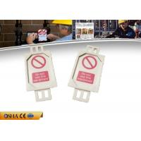 Wholesale 7g PVC Lockout Tagout Tags , 38.58 * 4.55 * 81.74 Mm Lockout Tagout from china suppliers