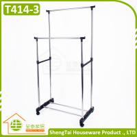 Multi Function Stainless Steel Garment Storage Cloth Drying Shelf With Wheels
