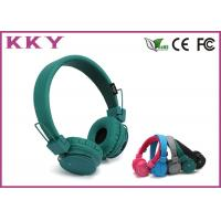 Wholesale Lightweight Green / Black On Ear Bluetooth Headphones With 108dB Sound Pressure from china suppliers