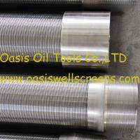 Quality Oasis factory supplies Stainless steel 316L wire wrapped water well screens for sale