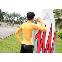 Quality Sunscreen Lycra Rash Guard Nylon Orange Sportswear Surfing long sleeve T-shirt for sale