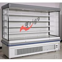 Buy cheap Adjustable Multideck Open Front Refrigerated Display Case With White Epoxy Shelf from wholesalers