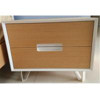 Fashionable Sturdy Indoor Storage Cabinets With 2 Drawers , Hardwood Bedside Tables
