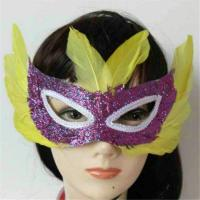 Wholesale Halloween Mluti Colors Masquerade Carnival Feather Party Half Face Mask from china suppliers