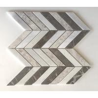 Wholesale Chevron Brown Silver Marble Mixed Mosaic Tiles , 12x12 Mosaic Tile Sheets from china suppliers