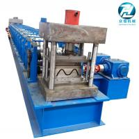 Wholesale Thickness 2.5 - 2.8mm Three Waves Guardrail Forming Machinery With Gearbox Drive from china suppliers